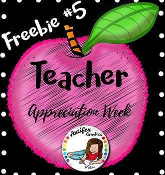 Teacher Appreciation Freebie -Day5-