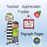 Teacher Appreciation Freebie Digraph Pages