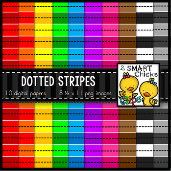 Background Paper - Dotted Stripes Bundle