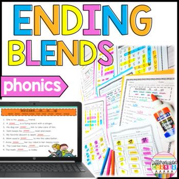 Consonant Blends Worksheets {Ending Blends}