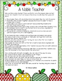 Teacher Appreciation Gift - A Noble Teacher Poem