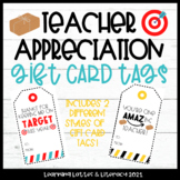 Teacher Appreciation Gift Card Tags Amazon Target Gift Tags End of School Year