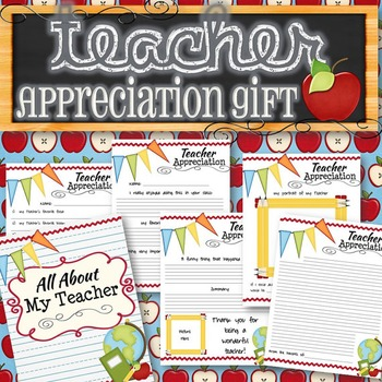 Teacher Appreciation Gift - INSTANT DOWNLOAD