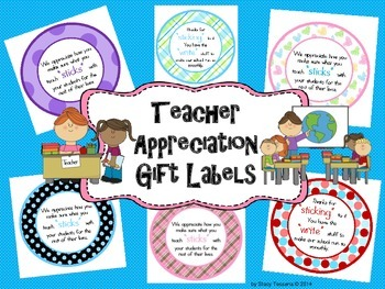 Teacher Appreciation Gift Labels