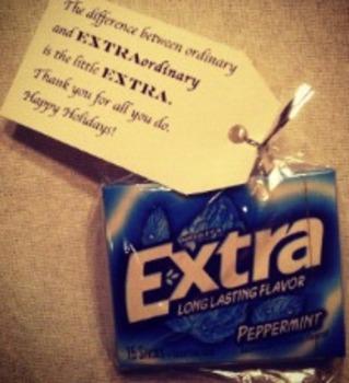 Teacher Appreciation Gift Labels EXTRAordinary Thank You Gram