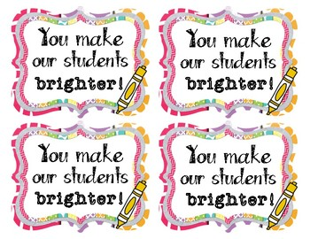 Teacher Appreciation Gift Tags 2