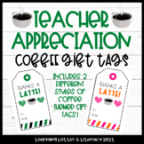 Teacher Appreciation Gift Tags Coffee Gift Tags Coworker Gift Tags End of School