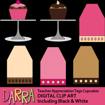 Teacher Appreciation Gift Tags Cupcakes Free Clip Art