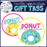 Teacher Appreciation Gift Tags {Donut Theme}