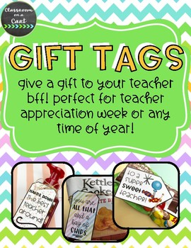 Teacher Appreciation Gift Tags {FREEBIE}