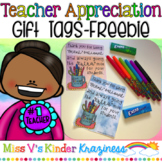Teacher Appreciation Gift Tags FREEBIE