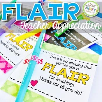 Teacher Appreciation Gift Tags for Flair Pens