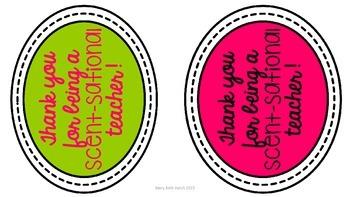 Teacher Appreciation Gift Tags- Freebie!