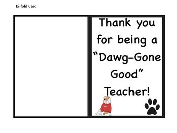Teacher Appreciation Gift Tags and Cards - Bulldogs Theme