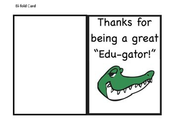Teacher Appreciation Gift Tags and Cards - Gators Theme