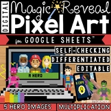 Heroes Digital Pixel Art Magic Reveal MULTIPLICATION