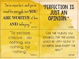 Teacher Appreciation Imperfection Quotes
