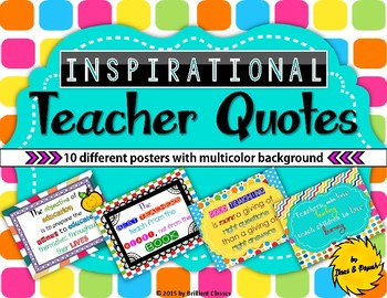 Teacher Appreciation- Inspirational Quotes Posters/End of the Year Appreciation
