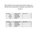 Teacher Appreciation Letter (Editable)