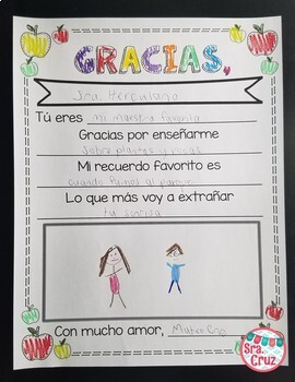 Teacher appreciation letter freebie in spanish english by sra cruz teacher appreciation letter freebie in spanish english thecheapjerseys Image collections