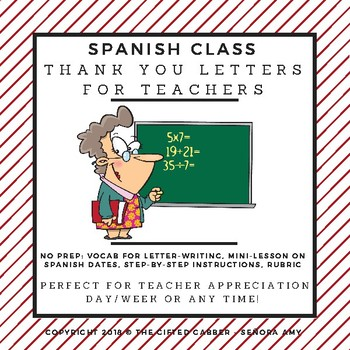 Teacher appreciation letter for spanish class tpt teacher appreciation letter for spanish class thecheapjerseys Image collections