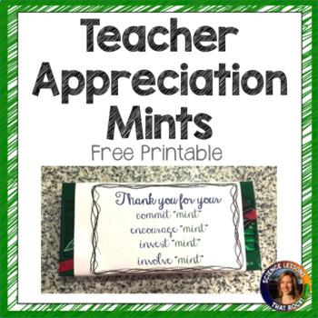 Teacher Appreciation Mints