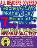 Memorial Day Teacher Appreciation Week Mother's Day & More