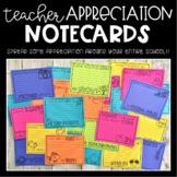 Teacher Appreciation Notecards