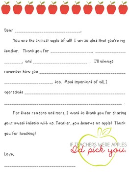 Teacher Appreciation Notes | An Authentic Writing Opportunity