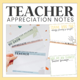 Teacher Appreciation Notes - Distance Learning