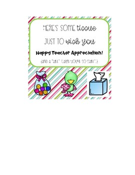 Teacher Appreciation Notes FREEBIE
