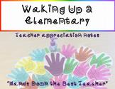 """Teacher Appreciation Notes- """"Hands Down the Best Teacher"""""""