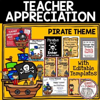 Teacher Appreciation Packet Pirate Theme