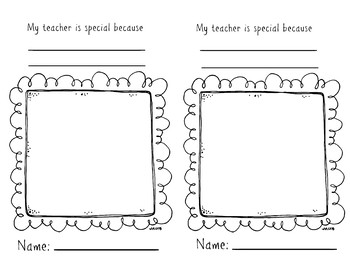 Teacher Appreciation Page