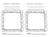 Teacher Appreciation Page