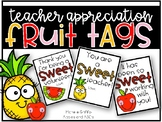 Teacher Appreciation Fruit Tags