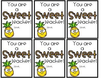 Teacher Appreciation Fruit Tags