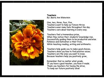 Teacher Appreciation Poetry Reading