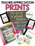 Teacher Appreciation Poster Prints