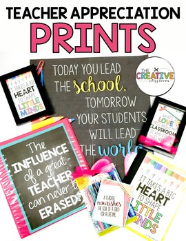 Teacher Appreciation Poster Prints