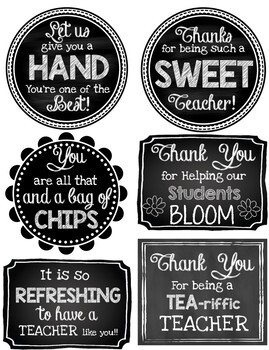 graphic regarding Printable Teacher Gift Tags referred to as Instructor Appreciation Printable Reward Tags