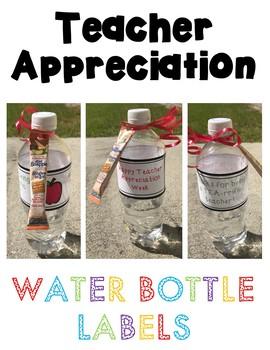 Teacher Appreciation Printable: Water Bottle Labels