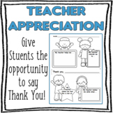 Teacher Appreciation Printable Worksheet