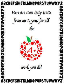 Teacher Appreciation Printouts by Lorenna Anderson | TpT