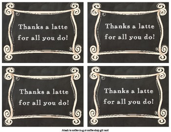 Teacher Appreciation Pun Gift Tags - Chalkboard Style