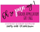 Teacher Appreciation Pun-ny Gift Tags