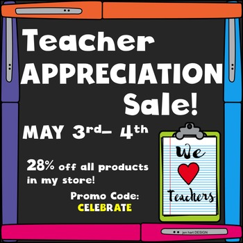 Free Teacher Appreciation Sale Banner 8x8
