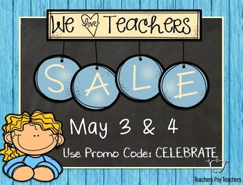 Teacher Appreciation Sale Button
