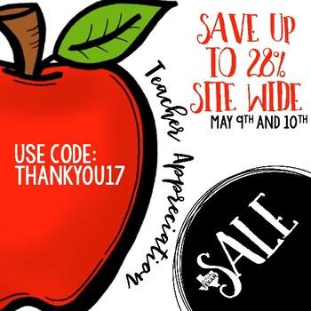 Teacher Appreciation Sale Image FREEBIE