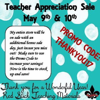 Teacher Appreciation Sale Shopping Guide